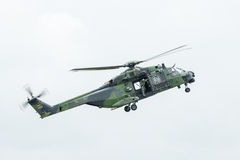 Flight helicopter NH90 of the German Army. Stock Photo