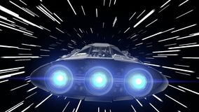 Flight through the hyperspace of a sci-fi spacecraft with pulsating engines, seamless loop, 3d animation. Flight through the hyperspace, 3d animation stock video