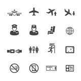 Flight icons Royalty Free Stock Image