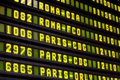 Flight Info Board Stock Images