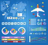 Flight Infographic Elements Stock Images