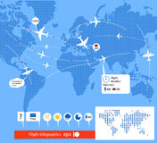 Flight infographics. Stock Images