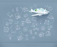 Flight infographics vector Stock Photo