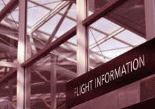 Flight Information Stock Photography