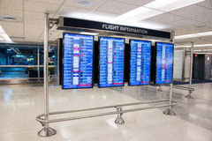 Flight information Stock Image