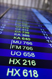 Flight information board in airport. Stock Photography