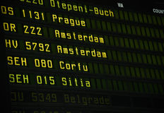 Flight information board Stock Photos