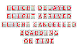Flight information board Royalty Free Stock Photos
