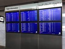 Flight information board Stock Photos