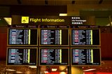 Flight information board: Singapore Changi Airport Royalty Free Stock Photos