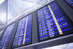 Flight Information Display Stock Image