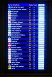 Flight information display in the Hong Kong Royalty Free Stock Photos