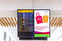 Flight information display screen Stock Images