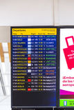 Flight information display screen Royalty Free Stock Image