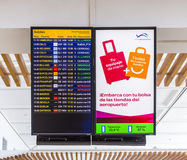 Flight information display screen Royalty Free Stock Photography