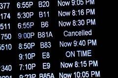 Flight information display screens Royalty Free Stock Image