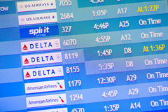 Flight information display screens Royalty Free Stock Photos