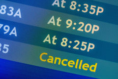 Flight information display screens Stock Photo