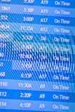 Flight information display screens Stock Photography