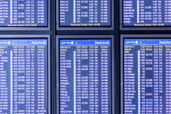 Flight information display screens Royalty Free Stock Photo