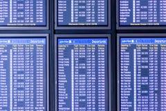 Flight information display screens Royalty Free Stock Photo