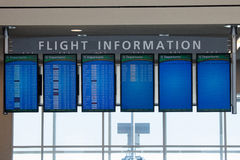 Flight information monitors in Atlanta Airport Royalty Free Stock Photos