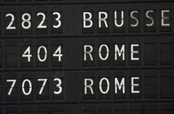 Flight information for Rome Royalty Free Stock Photos