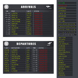 Flight Information - Set 2 - Cancelled Flights Stock Photos