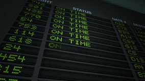 Flight Information On Time stock video
