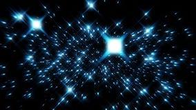 Flight inside a Blue Stars Particles Field Loopable Background. Flight inside a Blue Stars Particles Field Loopable Motion Background stock footage