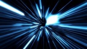 Flight inside a Blue StarsField at The Speed of Light Loopable. Flight inside a Blue StarsField Tunnel at The Speed of Light Loopable stock footage