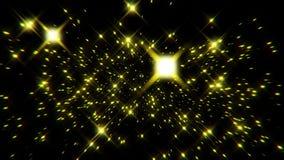 Flight inside a Gold Stars Particles Field Loopable Background. Flight inside a Gold Stars Particles Field Loopable Motion Background stock video