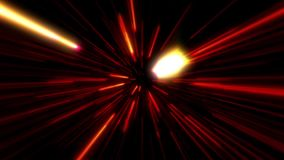 Flight inside a Red StarsField Tunnel at The Speed of Light Loopable. Background stock footage