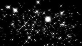 Flight inside a White Stars Particles Field Loopable Background. Flight inside a White Stars Particles Field Loopable Motion Background stock footage