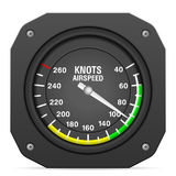 Flight instrument airspeed indicator Royalty Free Stock Photography