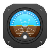 Flight instrument attitude indicator Royalty Free Stock Images
