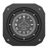 Flight instrument heading indicator Stock Images