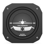 Flight instrument turn coordinator Royalty Free Stock Photos