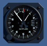 Flight Instruments - 2D - Altimeter Stock Images