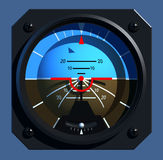Flight Instruments - 2D - Artificial Horizon Royalty Free Stock Image