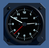 Flight Instruments - 2D - Dash Clock Royalty Free Stock Photography