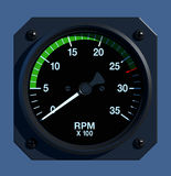 Flight Instruments - 2D - Engine RPM Royalty Free Stock Image