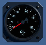 Flight Instruments - 2D - Oil Temperature Royalty Free Stock Images