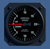 Flight Instruments - 2D - Vertical Speed Stock Photos