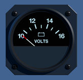 Flight Instruments - 2D - Voltage Stock Photo