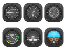 Flight instruments stock illustration