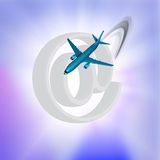 Flight Internet Royalty Free Stock Photography