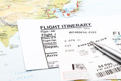 Flight Itinerary Stock Image