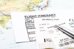 Flight Itinerary Stock Image