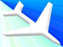 Flight landing. Flight descending down vector illustration